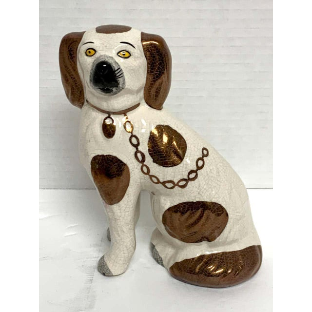 Late 19th Century 19th Century Staffordshire Diminutive Copper Luster Dogs - a Pair For Sale - Image 5 of 10