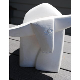 Late 20th Century Cubist Taurus the One Eyed Bull Sculpture Preview