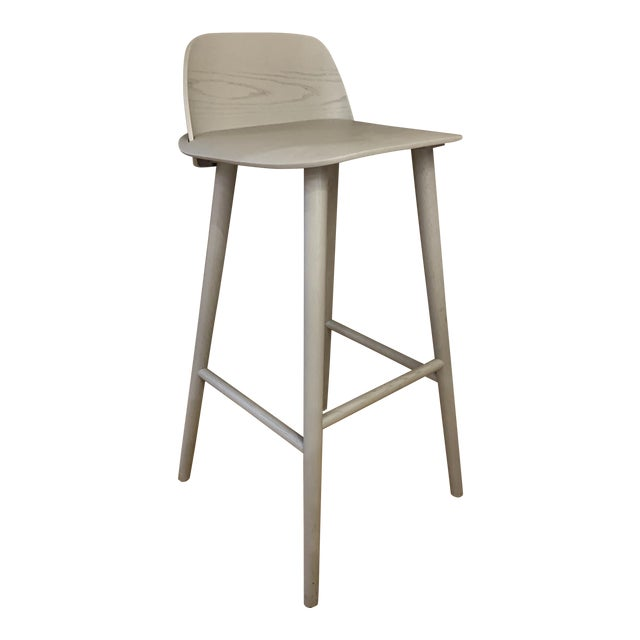 Modern David Geckeler Muuto Nerd Molded Plywood Barstool For Sale