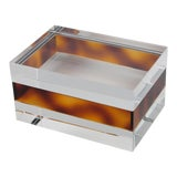 Image of French 1970s Clear and Tortoise Lucite Box For Sale