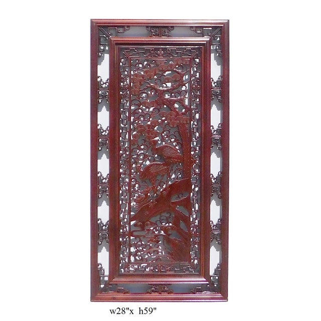 Chinese Wooden Rectangular Wall Screen - Image 6 of 6