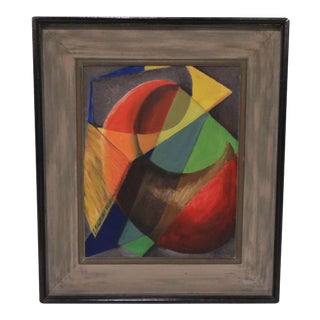 "1940s Modernist Oil Titled ""Study in Transparencies"" by Daniel Kornblum For Sale"