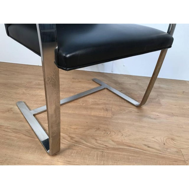 Pair of Knoll Chrome Plated Steel Brno Armchairs, With Leather Seats - Image 5 of 6