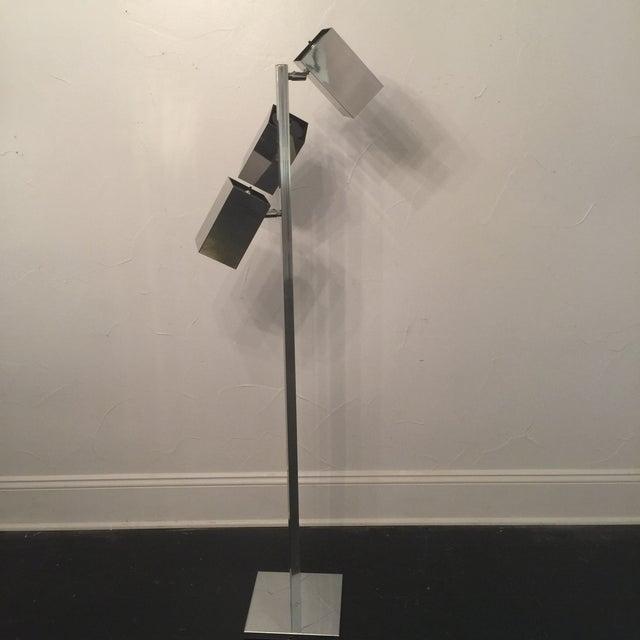 Koch & Lowey Chrome Floor Lamp - Image 5 of 5