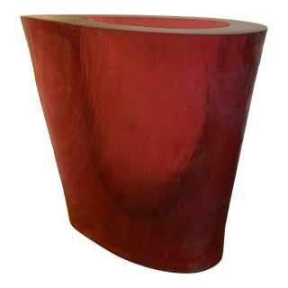 Terry Balle Red Acrylic Vase For Sale