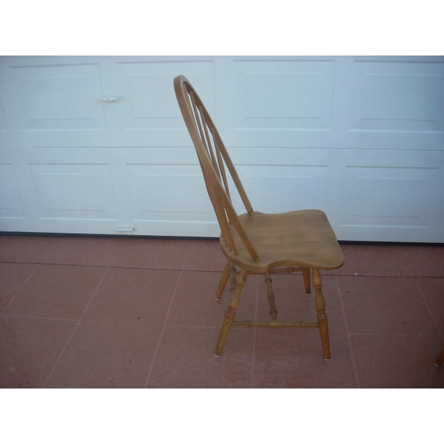 Windsor Maple Dining Chairs - Set of 4 Side Chairs - Image 3 of 5