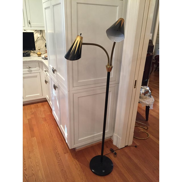 Black and Gold Retro Floor Lamp - Image 2 of 7