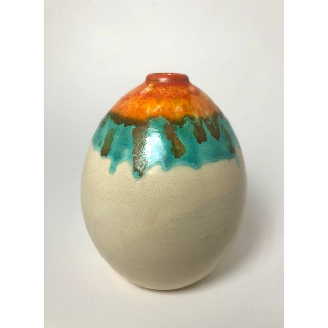 1930s 1930s Art Deco Pottery Vase For Sale - Image 5 of 5