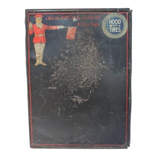 Early 20th C. Antique Tin Message Board For Sale