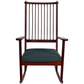 1960s Vintage Yngve Ekstrom for Swedese Rosewood Rocking Chair For Sale