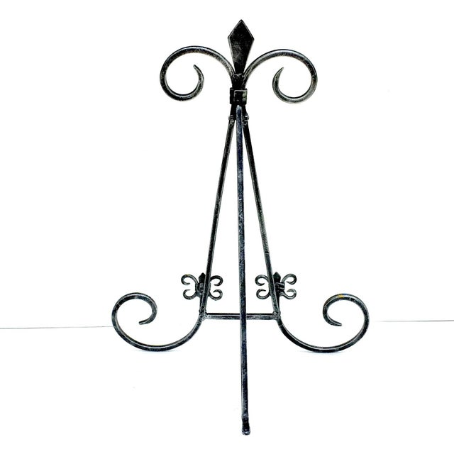 1990s Black Iron Finish Book Display Easels - a Pair For Sale - Image 5 of 6
