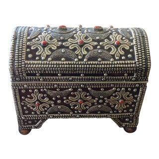 Moroccan Carnelian Stone Domed Box