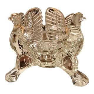 Crystal & Gold Jeanette Eagle Candle Holder For Sale
