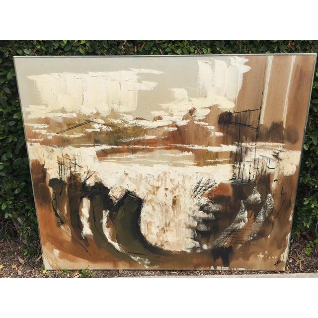 Etta Benjamin Mid-Century Abstract Painting - Image 2 of 6