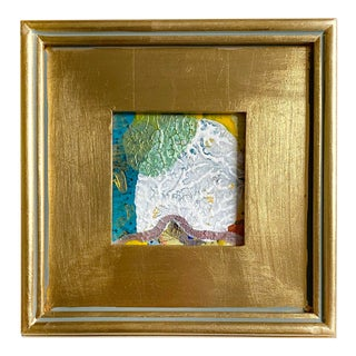 """""""California Sky"""" Mini Painting With Gold Frame For Sale"""