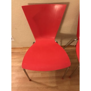 1950s Mid Century Red Lowenstein Dining or Office Chairs Preview