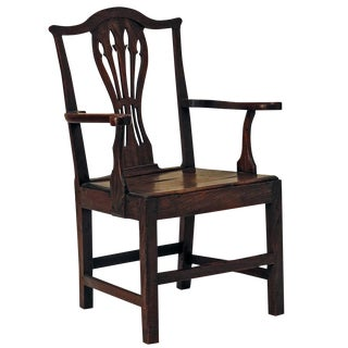18th Century English Country Armchair For Sale
