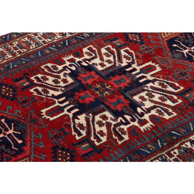 """Blue Vintage Persian Heriz Rug, 4'8"""" X 7'0"""" For Sale - Image 8 of 9"""