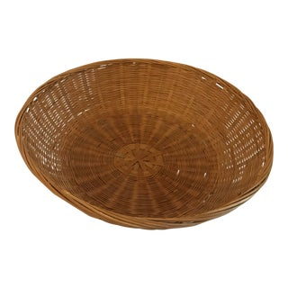 Vintage Hand Woven Chinese Basket For Sale