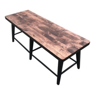 Rustic Restoration Hardware Style Bench For Sale