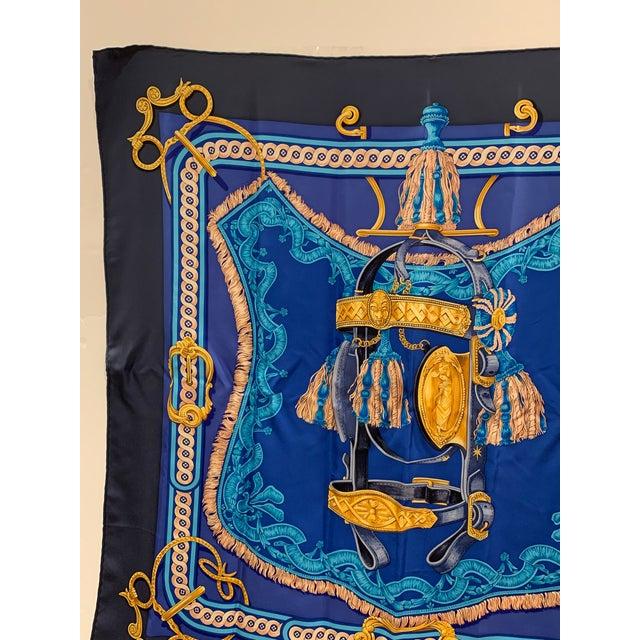 Hermès Beautiful Hermes Equestrian Themed Brides De Cour Silk Scarf For Sale - Image 4 of 7