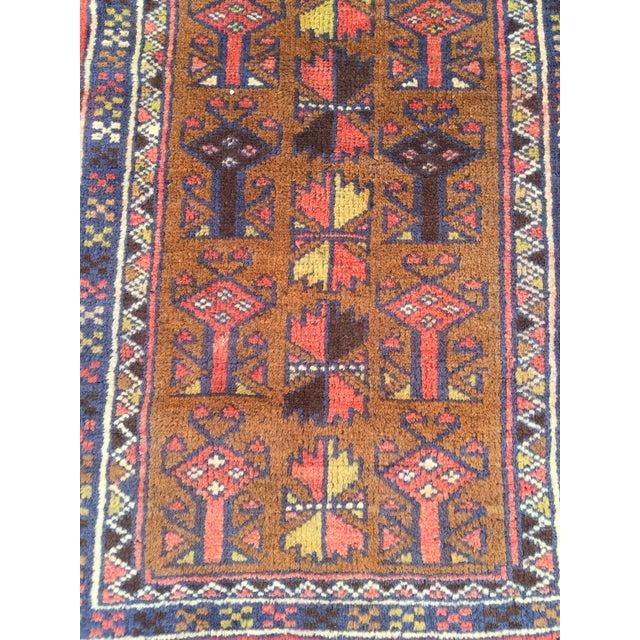 Handmade Persian Baluchi Rug - 2′4″ × 4′5″ - Image 5 of 9