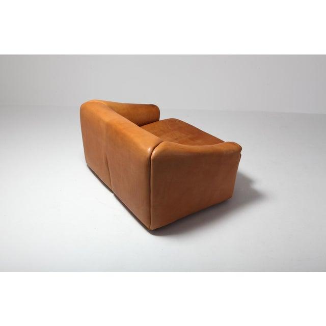1970s De Sede Ds 47 Cognac Leather Sofa For Sale - Image 5 of 12