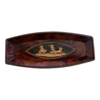 19th Century Rosewood Inlay Vide Poche Tray For Sale