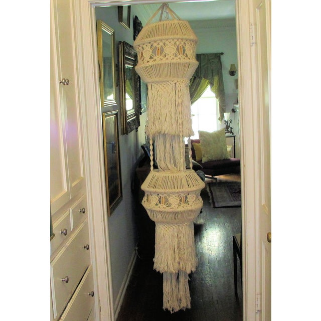 1970's Woven Yarn Hanging - Image 2 of 5