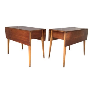 L. Stickley Cherry Valley Drop Leaf Accent Tables - A Pair