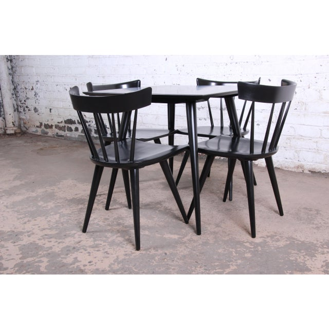 Planner Group Paul McCobb Planner Group Ebonized Dinette Set, Newly Restored For Sale - Image 4 of 13