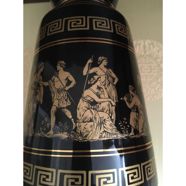 Gold Vintage Greek Gods 24k Gold Vase For Sale - Image 8 of 11