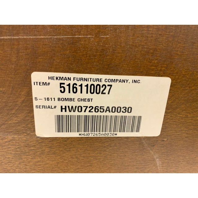 Pair of Hekman Italian Serpentine Burl Chests For Sale In Atlanta - Image 6 of 9