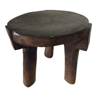 "African Old Carved Wood Milk Stool Hehe Gogo People Tanzania 10.25"" H For Sale"