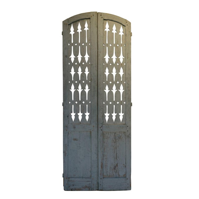 19th Century Antique French Shutter Doors - a Pair For Sale - Image 4 of 5