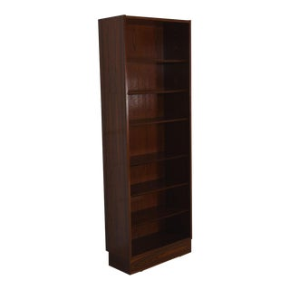 Danish Modern Rosewood Bookcase with Adjustable Shelves For Sale