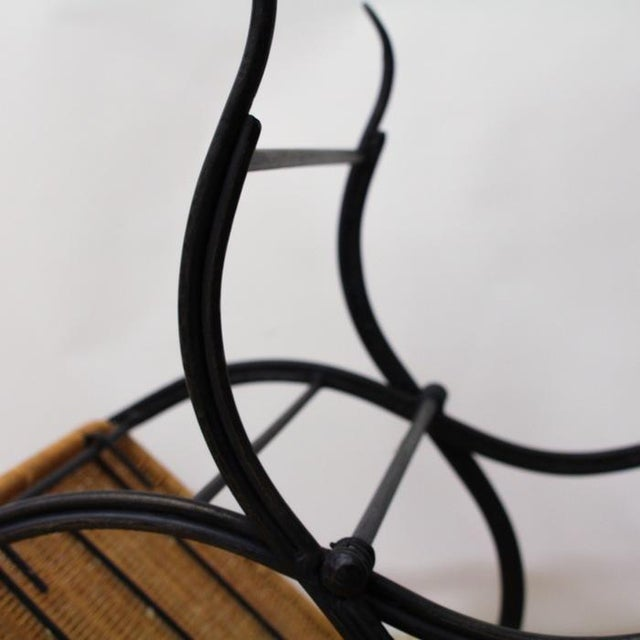 Pottery Barn Metal & Wicker Patio Chairs - S/3 - Image 7 of 8