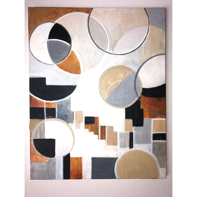 This painting is perfect for a mid-century room vibe. The warm earth tones are accentuated with the clever use of mulberry...