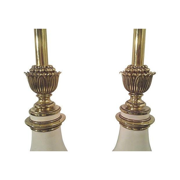 Hollywood Regency Stiffel Tall Table Lamps - Pair - Image 5 of 6