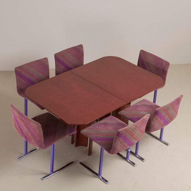 Purple A Saporiti Designed Extendable Dining Table, 1990s For Sale - Image 8 of 8
