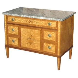 Marquetry Inlaid Commode / Chest of Drawers For Sale