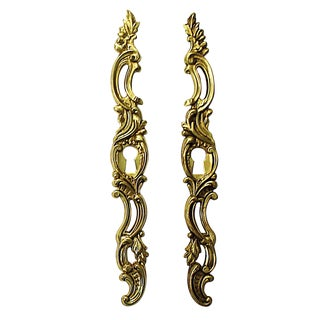 French Gold-Plated Key Hole Escutcheons For Sale