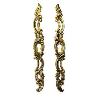 French Gold-Plated Key Hole Escutcheons