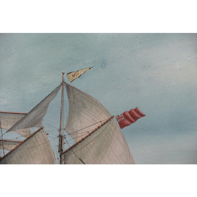 """Original Watercolor of the British Ship """"Kate"""" Out at Sea C.1890s to 1910 For Sale - Image 9 of 11"""