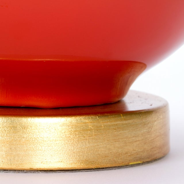 Not Yet Made - Made To Order Casa Cosima Sphere Table Lamp, Persimmon/Ivory Shade For Sale - Image 5 of 7