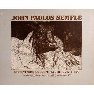 Signed John Paulus Semple Poster