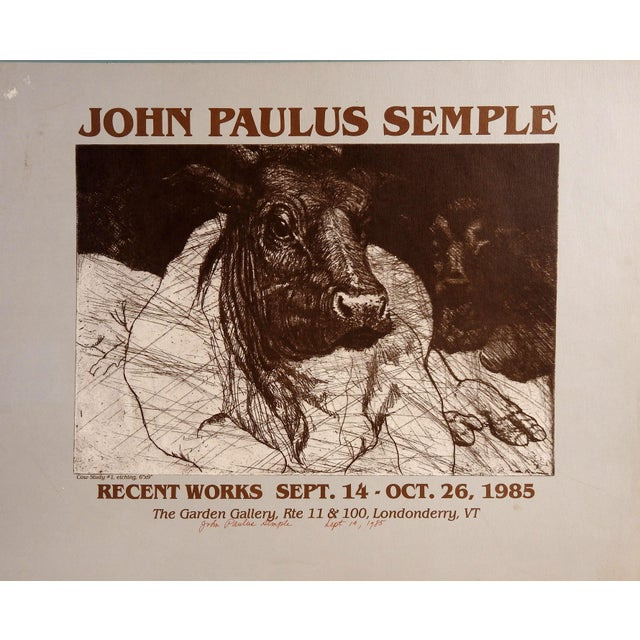 Signed John Paulus Semple Poster - Image 1 of 3