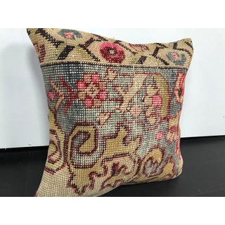 Vintage Faded Turkish Anatolian Floral Rug Pillow Preview