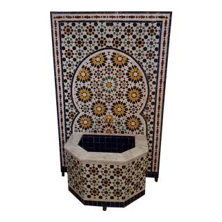 Riad Marble Border Moroccan Multi-Color Tile Fountain For Sale