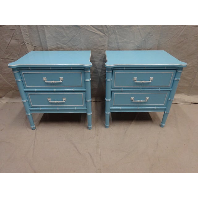 Vintage Bamboo Night Stands - Image 7 of 7
